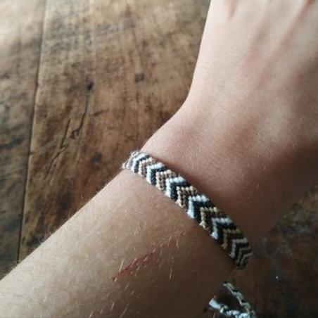 Bracelet plat Marron Noir