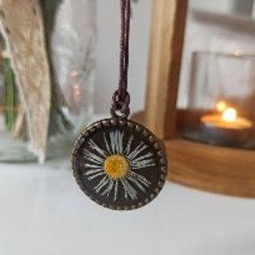 Pendentif collier Romantique Pâquerette