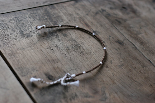 Bracelet Rond Marron et blanc n°22