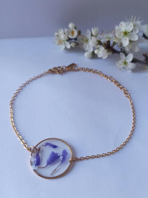Bracelet acier inoxydable doré Limonium