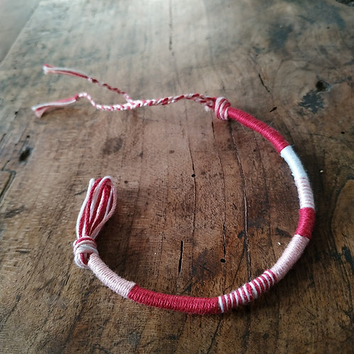 Bracelet Rond Fushia Blanc n°6