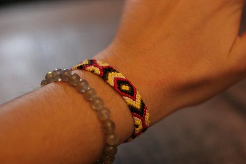 Bracelet plat Rouge Jaune