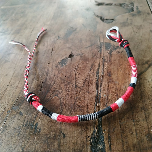 Bracelet Rond Rouge Noir n°1