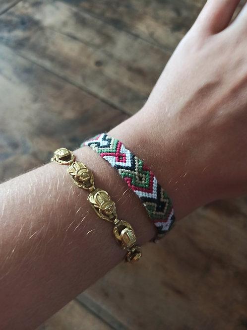 Bracelet plat Kaki Bordeau