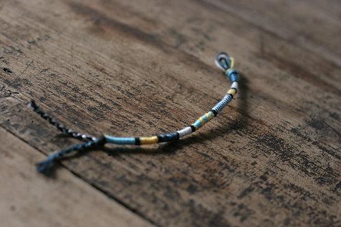 Bracelet Rond Bleu et Jaune n°28