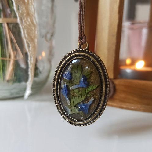 Pendentif collier Romantique Éclat de Vipérine et Cerfeuil