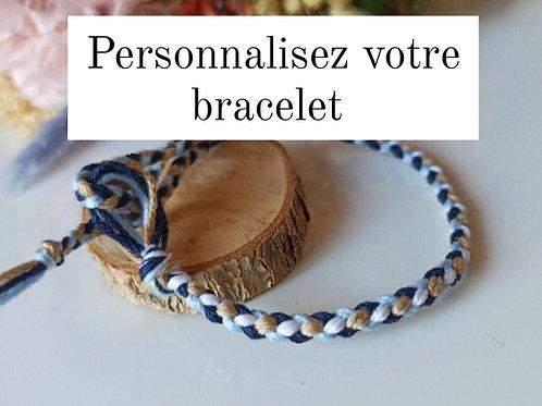Bracelet Tressé 4 brins personnalisable
