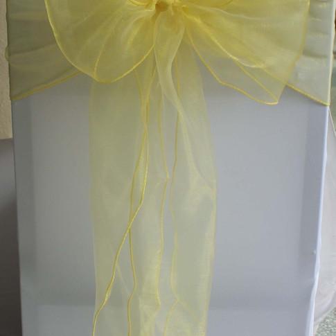Yellow Organza Sashes