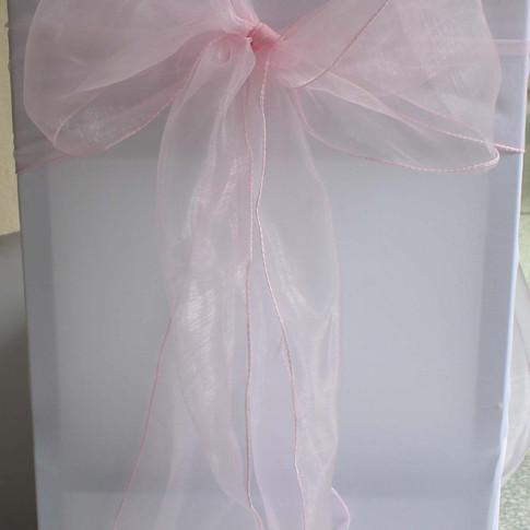 Baby Pink Organza Sahes