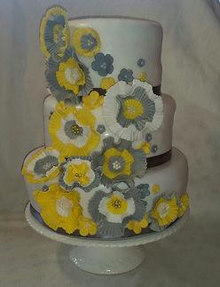 3 tier wedding cake - mixture of rum fruit cake and lemon sponge cakes