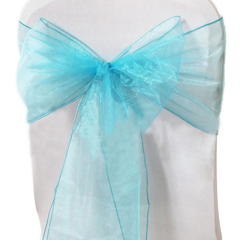 Turquoise Orgnza Sashes