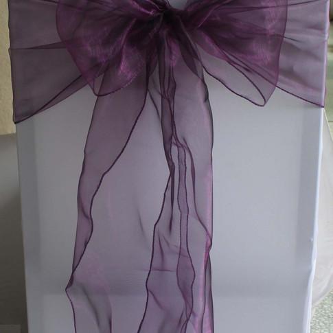Cadbury Purple Organza Sashes