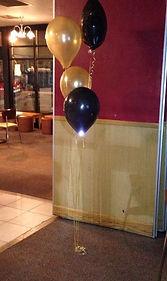 4 balloon cluster