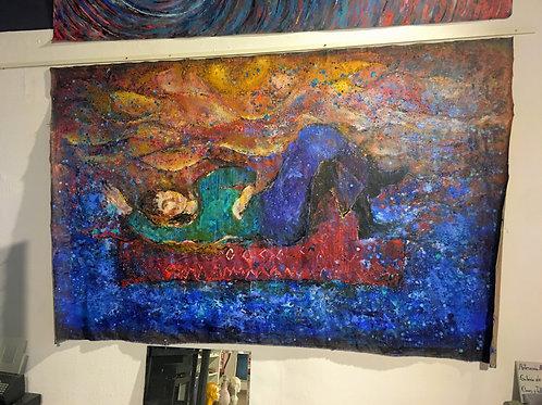 Pintura en lienzo de Shiva