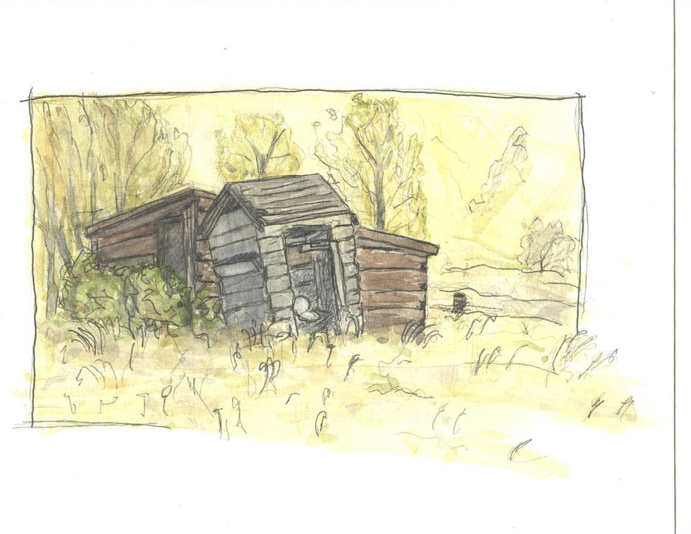 Outhouse Bannack Montana