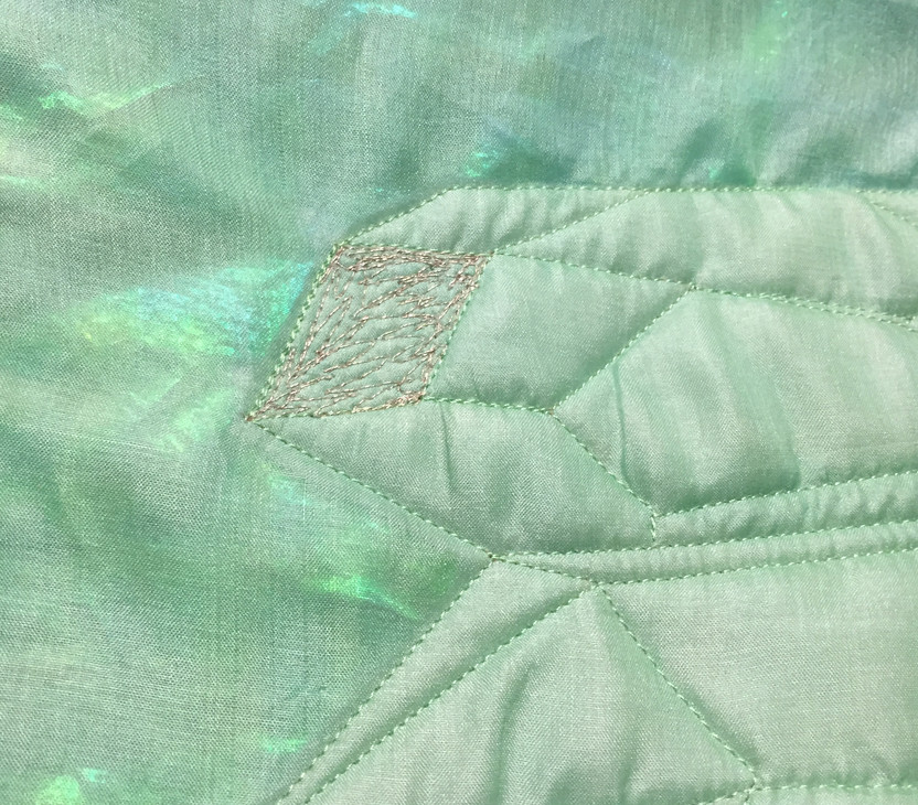 Detail on crystal quilt