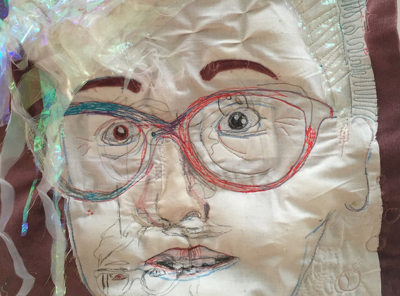 Quilted Self Portrait, 2015