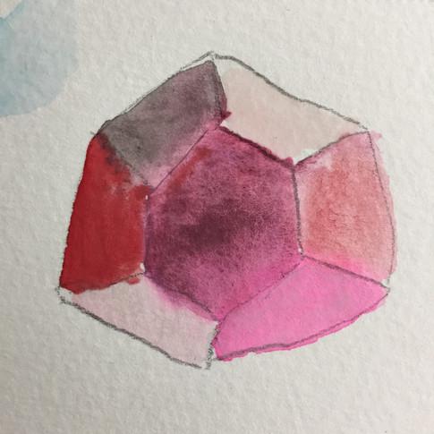 Watercolor of garnet