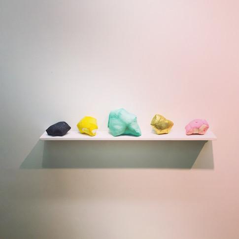 Tiny hand-sewn gems at my studio