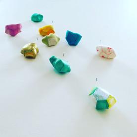 Gems on wall