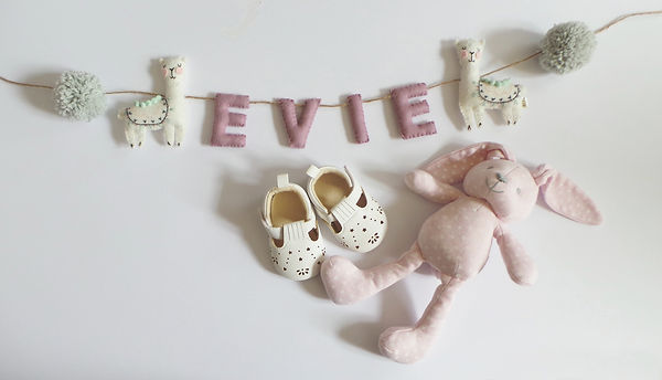 llama personalised Pom Pom nursery name