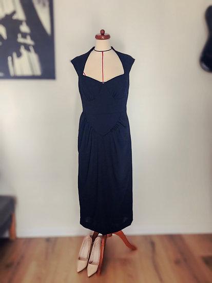 Robe noire inspirée Chanel début années 50