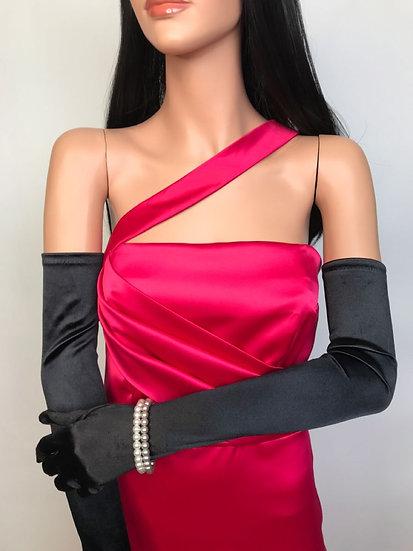 robe de soirée bustier en satin rose inspiration Marilyn couture sur mesure Tournai
