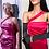 Thumbnail: Robe de soirée longue en satin rose inspiration Marilyn