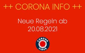 Neue Coronaschutzverordnung ab 20.08.