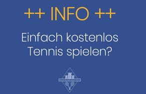 Einfach kostenlos Tennis spielen?