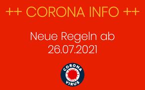 Neue Corona - Regeln