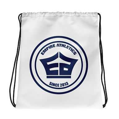 White EA Drawstring bag