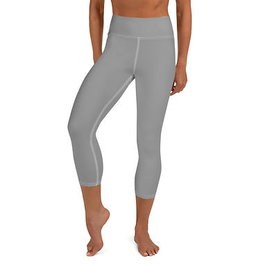 Grey Yoga Capri Leggings