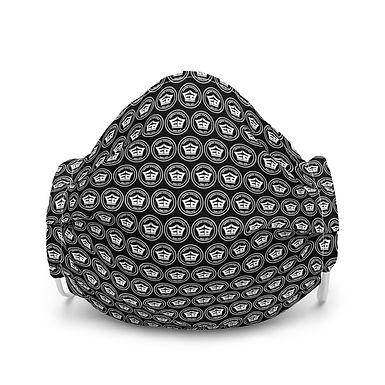 Premium Face Mask - Small Circle Logo (Black)