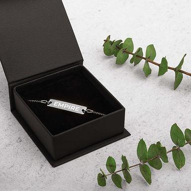 EMPIRE - Engraved Bar Chain Bracelet