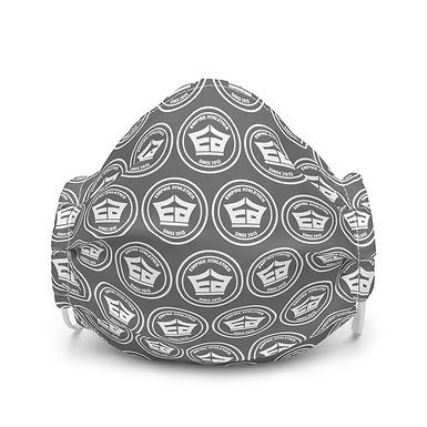 Premium Face Mask - Circle Logo (Grey)