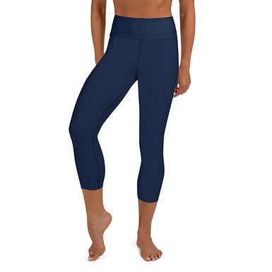 Navy Yoga Capri Leggings