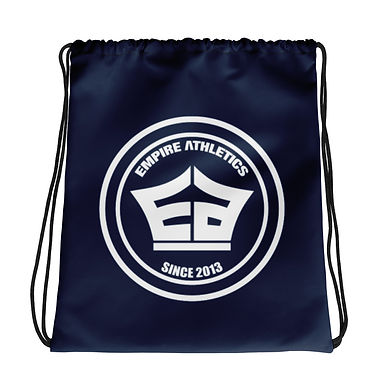 Navy EA Drawstring bag