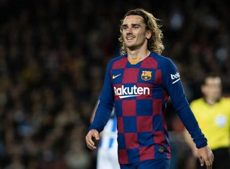 """نادي برشلونة يعلن نهاية موسم البطولة بالنسبة لـ""""غريزمان"""""""
