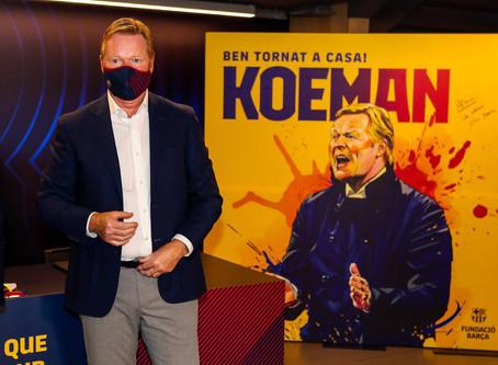 المؤتمر الصحافي لنادي برشلونة لتقديم المدرب الجديد  رونالد كومان