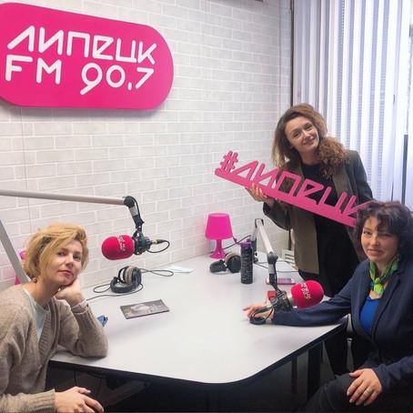 О выставке Полины Маценковой в эфире Липецк-ФМ