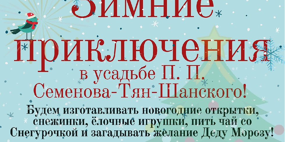 Зимние приключения в усадьбе П.П. Семенова-Тян-Шанского