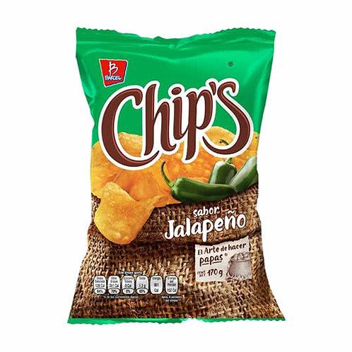 Botana Chips Jalapeño 170 gr.
