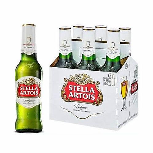 6 pack cerveza Stella Artois Leuven Lager 355 ml.