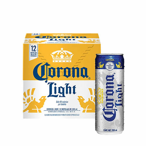 12 pack Cerveza Corona light 355 ml.