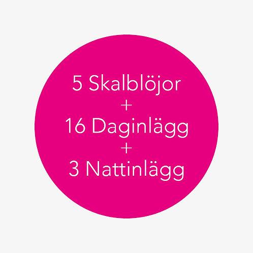 5 Skalblöjor + 16 Daginlägg + 3 Nattinlägg