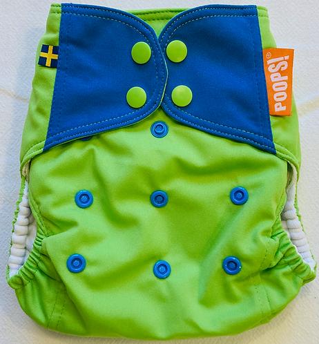Skalblöja - Grön/Blå