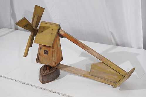 Folk Art Windmill Weathervane