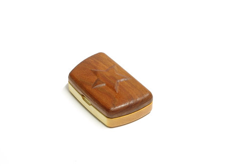 klaschische Schatulle aus Holz mit erhabenem Stern