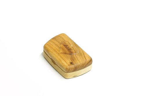 personalisierte Holzschatulle in klassischer Form (Kirschholz, Ahorn)